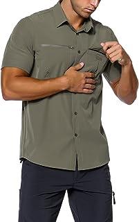 Unitop Men's Short-Sleeve Work Shirt Hiking Camping Shirt