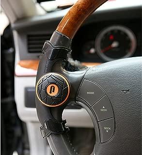Easy Turn Plus Concept Safe Slim Power Handle Car Vehicle Steering Wheel Spinner Knob Orange