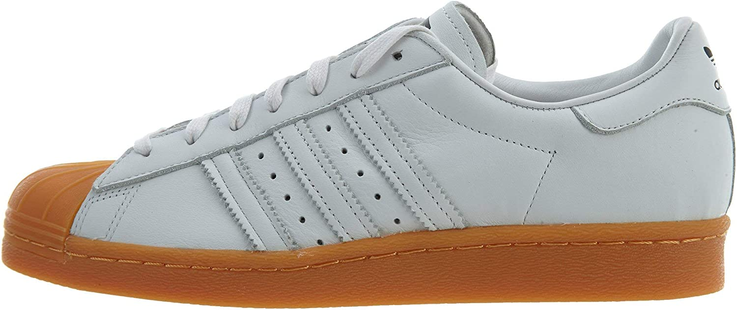 Adidas Originals Superstar 80S DLX Womens Other Leather Material Trainers White Tan