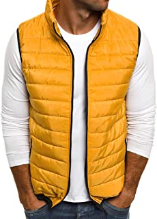 Sexy Dance Men's Padded Gilet Lightweight Body Warmer Puffer Vest with Zipped Pockets Winter Warm Jacket Coat Outwear Slee...