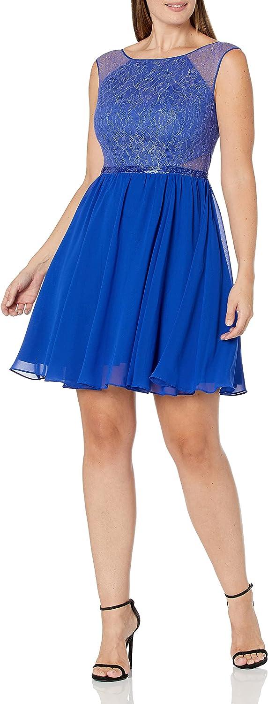 Aidan by Aidan Mattox Women's Lace and Chiffon Party Dress