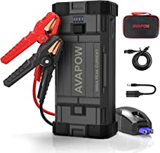 AVAPOW Car Battery Jumper Starter Portable,3000A Peak 23800mAh,12V Jump Boxes for Vehicles(Up to 8L Gas/8L Diesel Engine),Auto Battery Booster Pack with USB QC3.0/LED Light