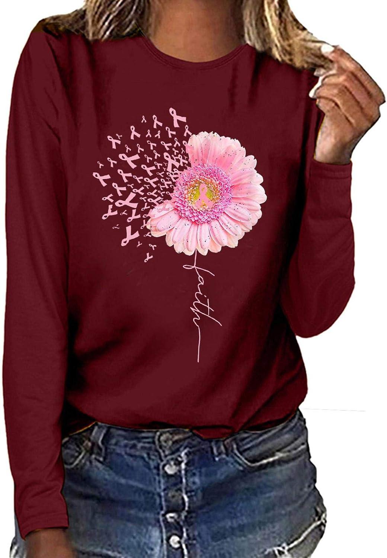 YAnGSale Top Fashion Sweatshirt Women Breast Cancer Our shop OFFers the best service Casual mart Shirt