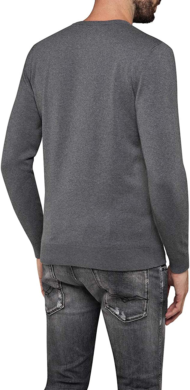 Replay Pull-Over Homme Gris (Grau Gm04)
