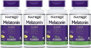 Natrol Melatonin Fast Dissolve Tablets, Citrus Punch 10mg, 60Count (Pack of 4)