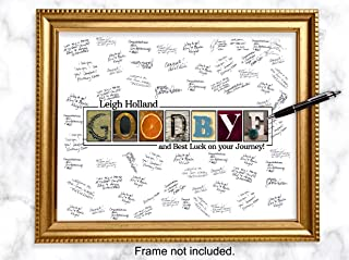 farewell signature frame