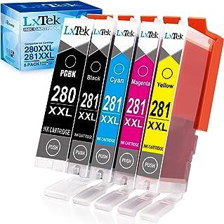 Best LxTek Compatible Ink Cartridge Replacement for Canon PGI-280XXL CLI-281XXL PGI 280 XXL CLI 281 XXL to use with PIXMA TR8520 TS9120 TS6220 TS9520 TS8220 TS9521C TS6120 TS8120 TR7520 TS702 (5-Pack) Review
