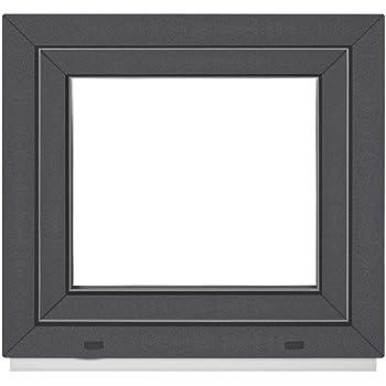 BxH: 70 x 60 cm DIN Rechts wei/ß Fenster 60 mm Profil Kellerfenster 3 fach Verglasung 700 x 600 mm Kunststoff