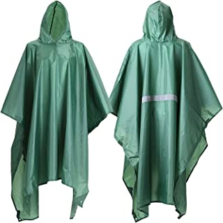 Rain Poncho, Waterproof Raincoat with Hoods for Concerts,Camping,Hiking,Cycling