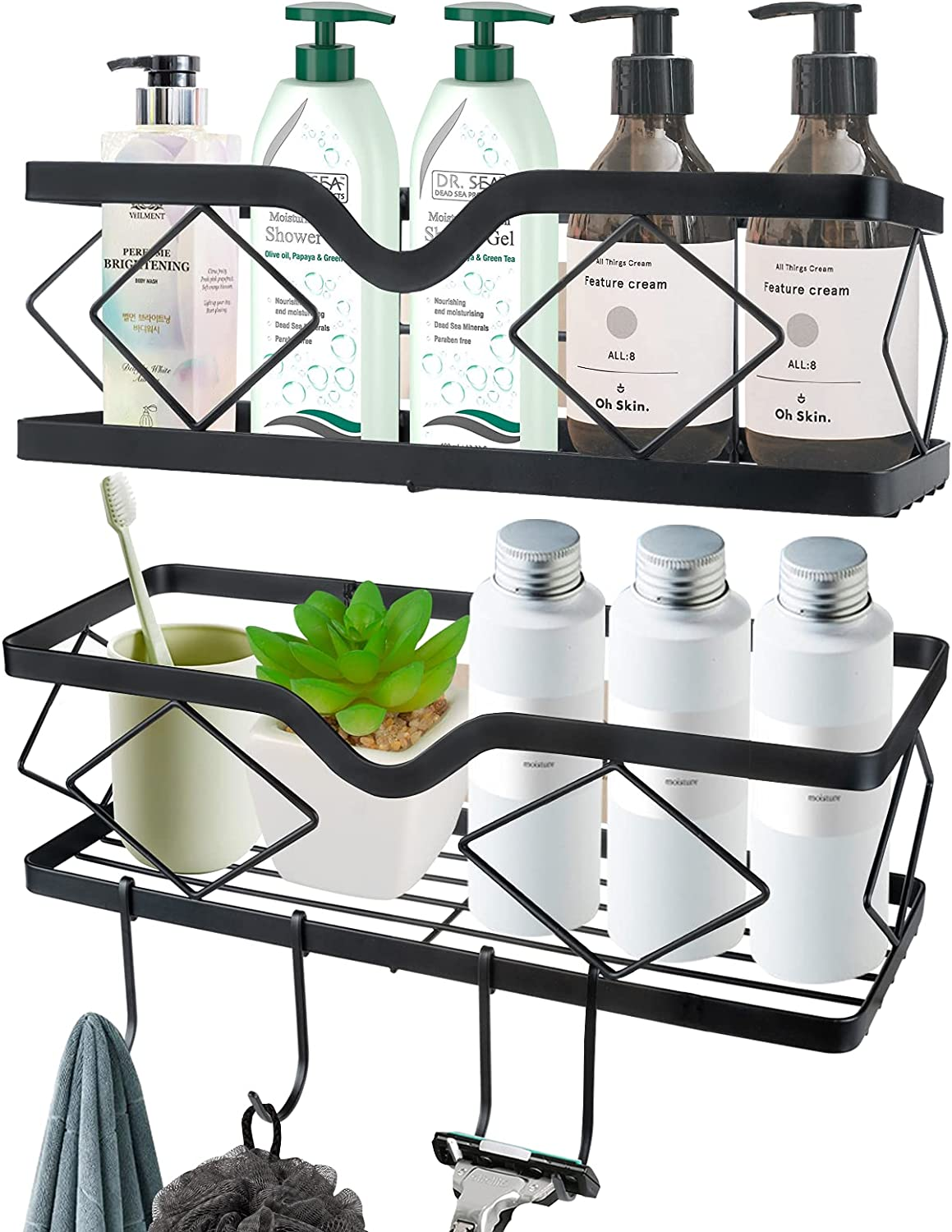 Kadolina Adhesive Shower Caddy Bathroom Pack Shelf Challenge the lowest price Wal 2 Popular shop is the lowest price challenge