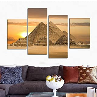 H.COZY Egyptian Pyramids Print in The on Canvas. Than an Oil Painting Poster or Placard Ancient Egyptian ALI Giza Pyramids Poster Historic Beautiful Landmark 32X24 inch nyjzd101(No Frame)