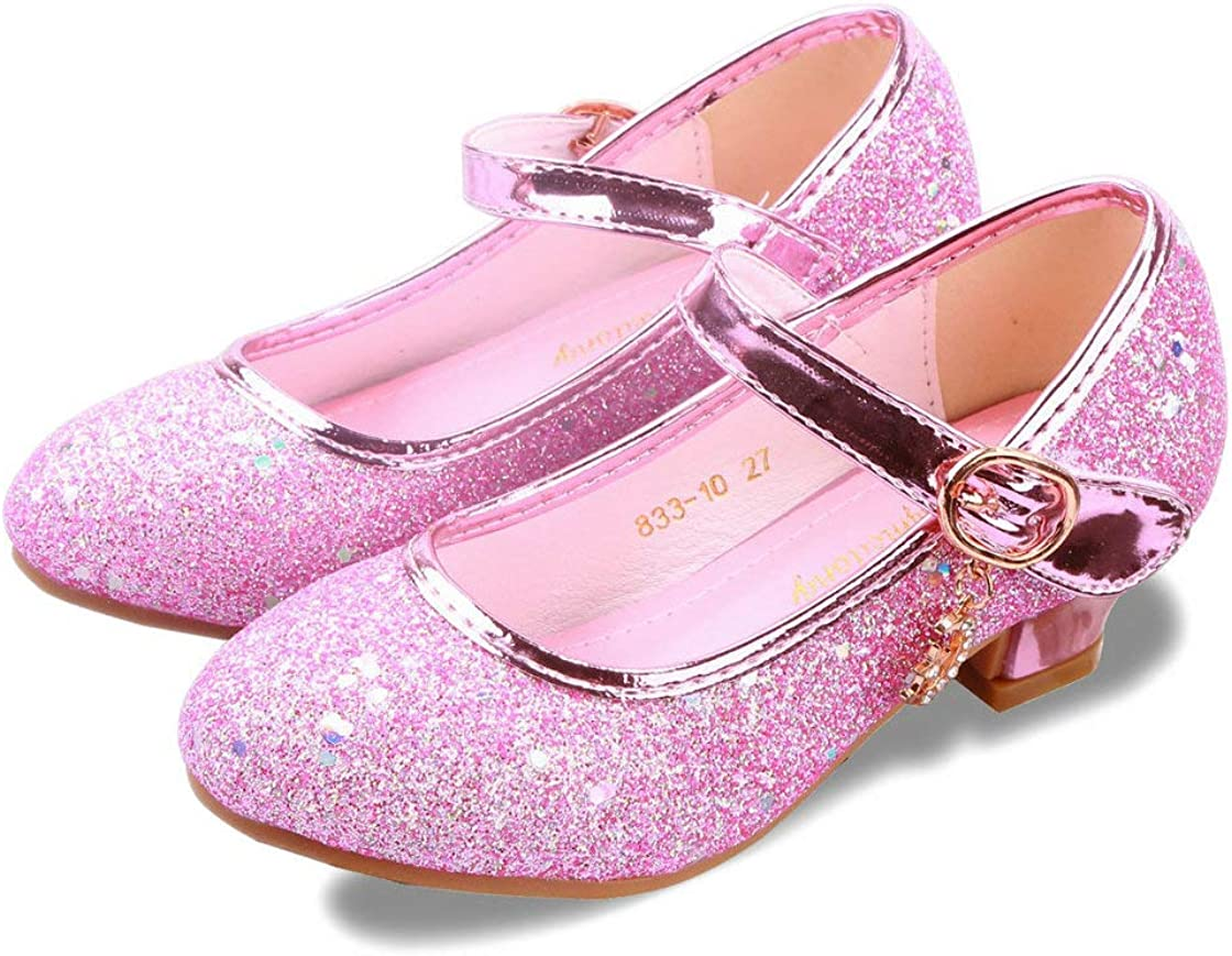 ALPHELIGANCE Girls Flats Sparkle Attention brand Party Mary Jane Safety and trust Dress Princess