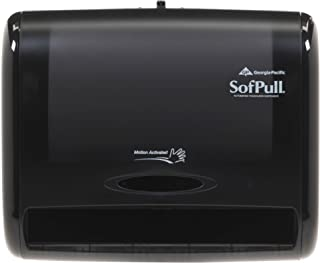 "SofPull 9"" Automated Touchless Paper Towel Dispenser by GP PRO (Georgia-Pacific), Black, 58470, 12.800"" W x 6.500"" D x 10.500"" H"
