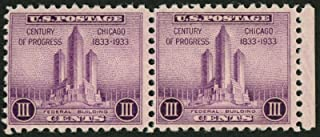 1933 3c US Postage Stamps Scott 729 Chicago Century of Progress Fed Bldg Lot 2