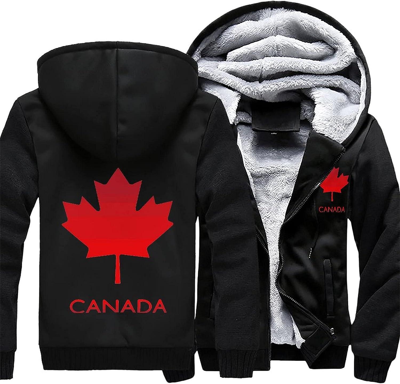 Canadian Maple Luxury goods Leaf Men's hoodie Sale item winter warm jacke fleece jacket