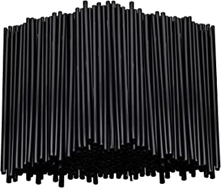 Stirring Straws for Coffee Cocktail Black Plastic Sipping Stirrers Drink Stir Sticks For Bars Cafes Restaurants Home Use (1000, 7.5 Inches)