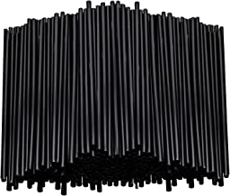 Stirring Straws for Coffee Cocktail Black Plastic Sipping Stirrers 5 Inches Long Drink Stir Sticks For Bars Cafes Restaurants Home Use (1000)