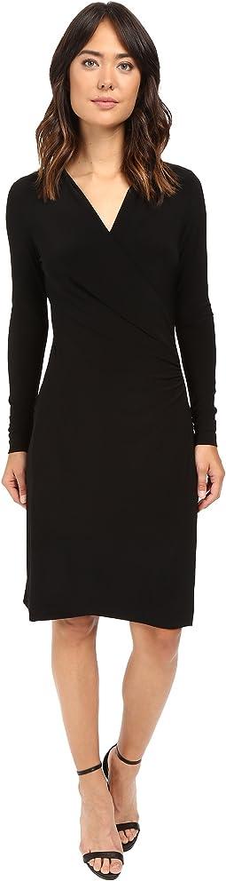 L/S Side Draped Dress