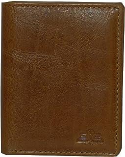 Laveri Genuine Leather Credit Card Holder Wallet Bill and Card Holder Unisex Wallet, Leather - Tan