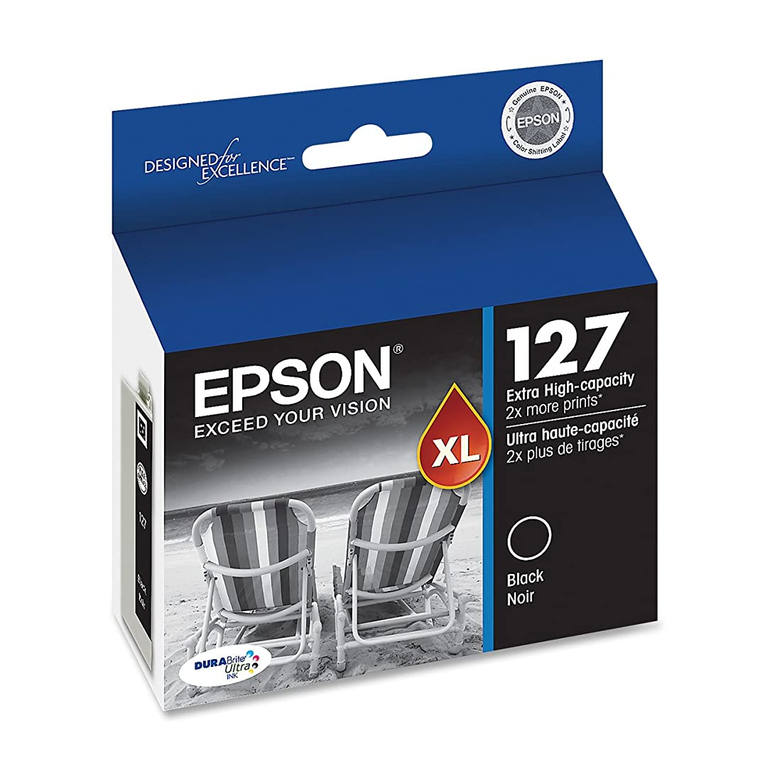 Epson DURABrite XL T127120 Ultra 127 Extra High-capacity Inkjet Cartridge-Black