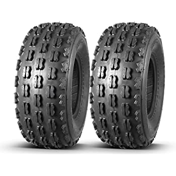 Set of 2 MaxAuto Sport Front ATV Tires 21X8-9 21x8x9 GNCC Cross Country Race,4 Ply Rating Tubeless
