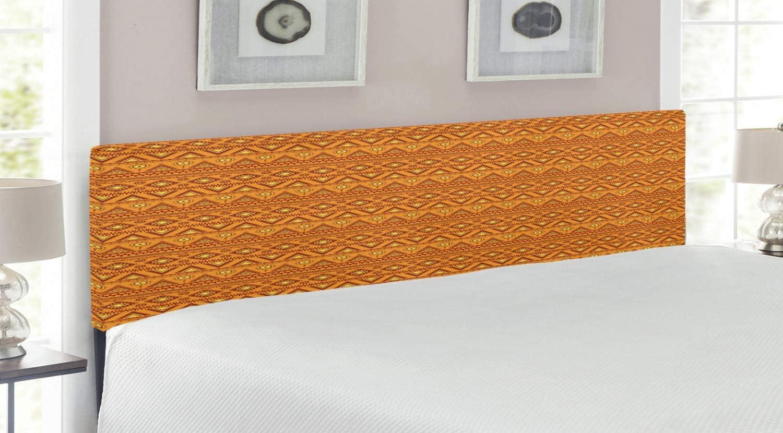 Opening large release sale Ambesonne Aztec mart Headboard Folkloric Triangle wit Motifs Borders