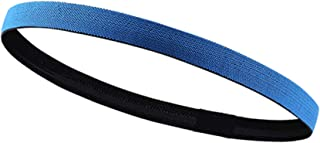 Haining Thick Non-Slip Elastic Sport Headbands Skinny Athletic Hair Bands for Men, Women, Boys & Girls - Silicone Grip Hai...