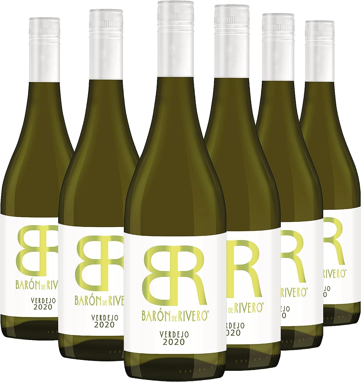 Barón de Rivero Verdejo - Pack 6 botellas de 75 cl - Vino blanco