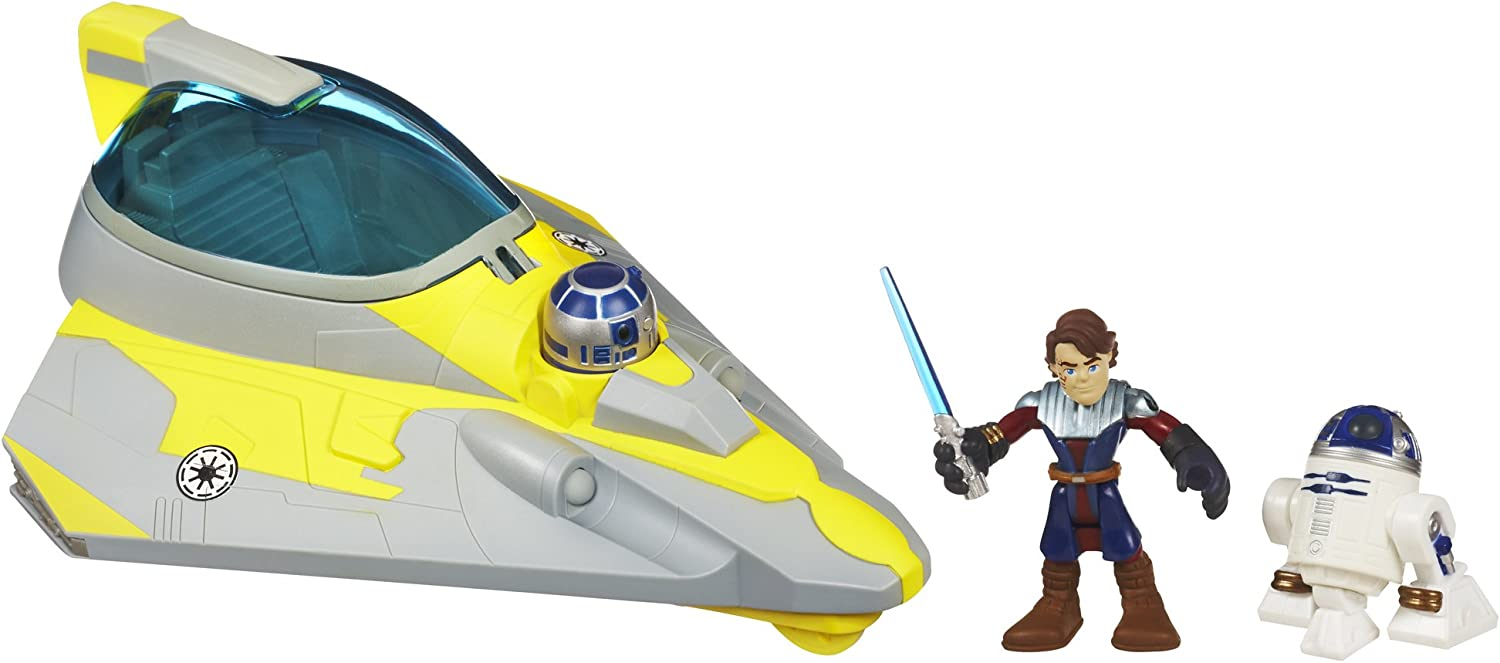 Star Wars Jedi Force Playskool Heroes Anakin Skywalkers Jedi Starfighter mit R2-D2 32983