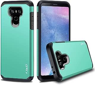 J&D Case Compatible for LG G6 / LG G6 Plus Case, Heavy Duty [Dual Layer] Hybrid Shock Proof Protective Rugged Bumper Case for LG G6 Plus, LG G6 Case - Mint