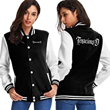 Tenacious D Cartoon Women's Varsity Baseball Hoodie Jacket Outerwear Coat