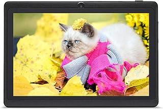 Haehne 7 Pollici Tablet PC, Google Android, Quad Core, Doppia Fotocamera, WiFi, Bluetooth, Per Bambini e Adulti, Nero