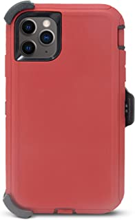 Case iPhone 11 Pro Belt-Clip Kick-Stand Heavy Duty Holster red S1294