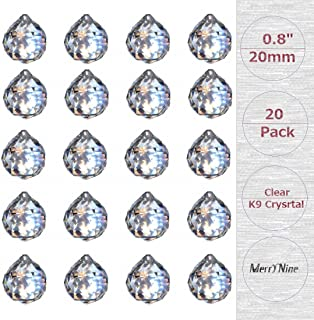 "MerryNine Clear Crystal Ball Prism Suncatcher Rainbow Pendants Maker, Hanging Crystals Prisms for Windows, for Feng Shui, for Gift (0.8""/20mm 20Pack)"
