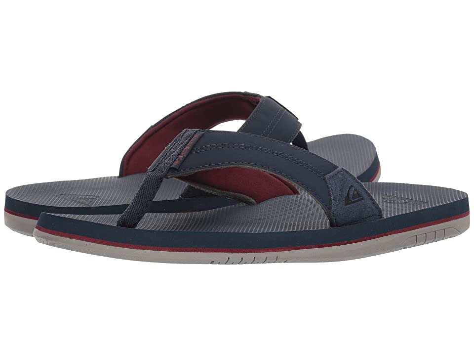 Quiksilver Coastal Oasis II (Blue/Red/Grey) Men's Sandals, Gray