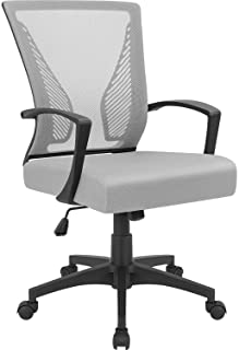 Furmax Office Chair Mid Back Swivel Lumbar Support Desk Chair Computer Ergonomic Mesh Chair with  sc 1 st  Amazon.com & Amazon.com: Grey - Home Office Desk Chairs / Home Office Chairs ...