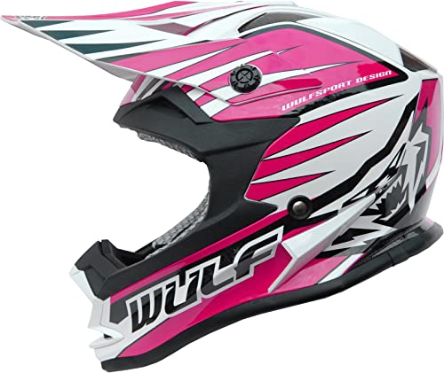 Wulf Cub Advance Jugend Kinder Motocross Enduro Rennsport Helm