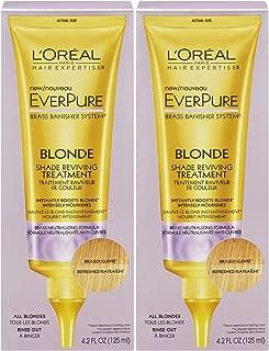 L'Oreal Paris Hair Expertise EverPure Blonde Shade Reviving Treatment, 4.2 fl oz - 2pc