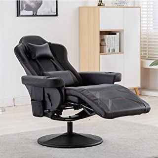 Merax Gaming Recliner Gaming Chair Desk Chair with Footrest,Headrest,Lumbar Pillow,2 Cup holders, 2 Removable Side Pouches...