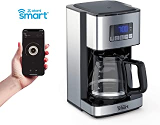Atomi Smart WiFi Coffee Maker 12 Cup, Black/Stainless Steel, Compatible with Amazon Alexa & Google Home, iOS and Android, Control Coffee Brew From Anywhere