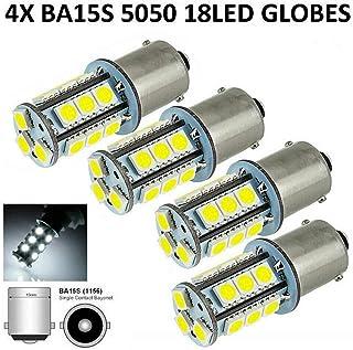 4pcs 1156 Ba15s Car White Globe 18 LED Brake Reverse Turn Stop Tail Light Bulb 24V