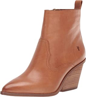 Frye Women's Amado Wedge Ankle Boot, Camel, 9.5 M US