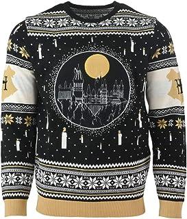 Harry Potter Christmas Jumper Ugly Sweater Hogwarts Castle Candles LED Light Up for Men Women Boys and Girls, Mehrfarbig, ...