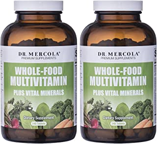 Dr Mercola Whole Food Multivitamin PLUS Tablets - 240 per Bottle - 30-day Supply - 2 Bottles - High-Potency Antioxidant Fo...