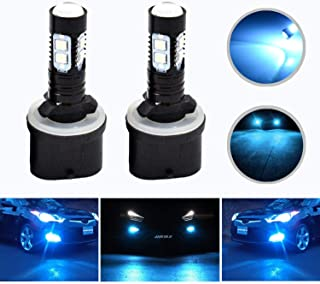 HOCOLO Extremely Bright Max 50W High Power 880 LED Fog Light Bulbs for DRL or Fog Lights, Xenon White (880-50W, Lighting Ice Blue)