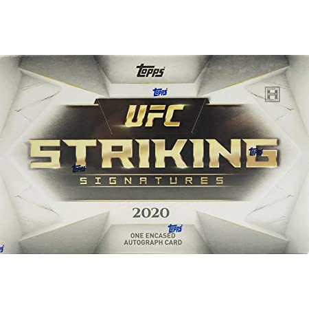 2020 Topps UFC Striking Signatures box (ONE encased Autograph card/bx)
