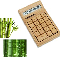 $40 » WanXingY Bamboo Office Calculator 12 Digit LCD Display School Calculate Commercial Tool Battery Solar Powered