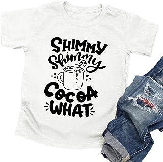Christmas Shirts Toddler Girls Boys Xmas Graphic Tee Holiday Tops Letter Print T-Shirt Funny Saying