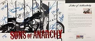 Charlie Hunnam Katey Sagal Ryan Hurst 15 Autographed Signed Memorabilia Sons Of Anarchy 12X18 Photo PSA