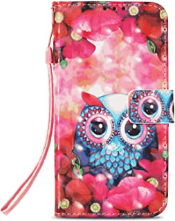Leather Flip Case Fit for Samsung Galaxy S10, owl Wallet Cover for Samsung Galaxy S10